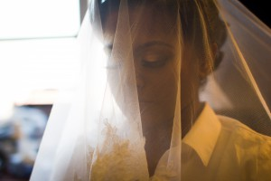 A quiet moment before the wedding