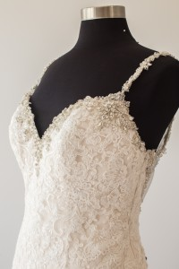 Sparkle and lace on display